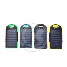 Портативное зарядное устройство (Power Bank) 3000mAh + солнечная батарея в ассортименте