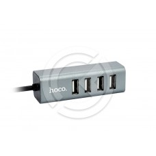 HUB USB HOCO HB1 (4 порта) (серый)