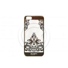 Накладка Beckberg (TPU) для iPhone 5/5S/SE со стразами (золото) тип 3