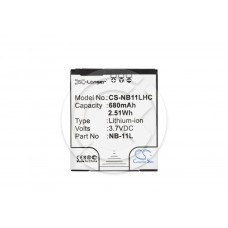 Аккумулятор для Canon Digital IXUS 240 HS/275 HS/PowerShot SX410 IS 680mAh (CS-NB11LHC/NB-11L)