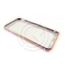 Бампер Металлический на iPhone 6 Розовый