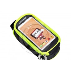 """Велосипедная сумка на раму для смартфона до 5.5"""" (черно/зеленый)"""