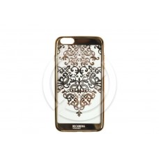 Накладка Beckberg (TPU) для iPhone 6 Plus/6S Plus со стразами (золото) тип 1