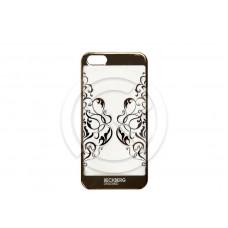 Накладка Beckberg (TPU) для iPhone 5/5S/SE со стразами (золото) тип 9