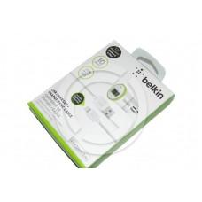 АЗУ BELKIN USB 2A + USB кабель iPhone 5/6/7 Lightning 1.2м (белый) (BEL-002)