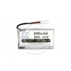 Аккумулятор для квадрокоптера SYMA X5C/X5SW/X5A/X5SC/Walkera QR/CX-30/V929 650mAh (CS-LT118RX)