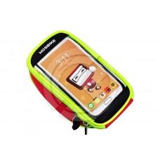 """Велосипедная сумка на руль для смартфона до 5.5"""" (черно/красный)"""