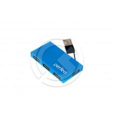 HUB USB Perfeo PF-VI-H023 4 порта (синий)
