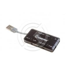 HUB USB + Картридер Smartbuy SBRH-750-K Combo (черный)