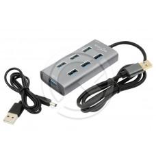 Разветвитель VIXION (AD57) USB - 7 USB (серый)