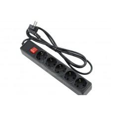 Сетевой фильтр Perfeo 10A 2500Вт 5 розеток 1,8м (чёрный)
