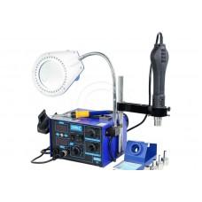 Термовоздушная паяльная станция YIHUA 862D+ с лампой и подставкой для фена