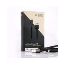 USB/LED ДАТА-КАБЕЛЬ ZETTON FLAT серый