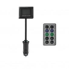 FM-трансмиттер LONG 04 черный (SDCX, SDHC, USB)